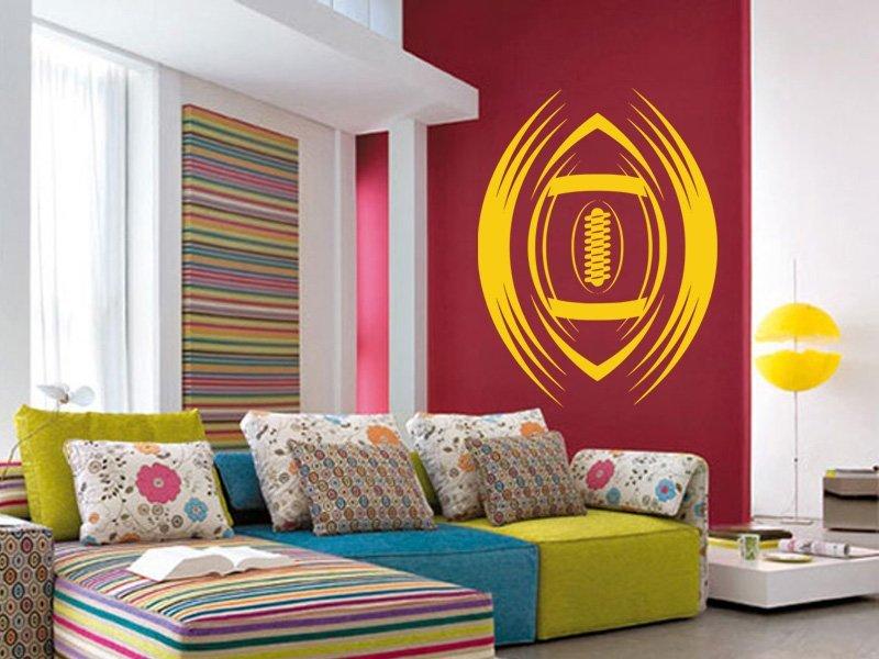 Samolepky na zeď Americký fotbal 005 - Samolepící dekorace a nálepka na stěnu