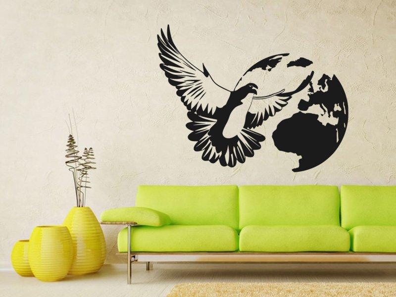 Samolepky na zeď Holubice 002 - Samolepící dekorace a nálepka na stěnu