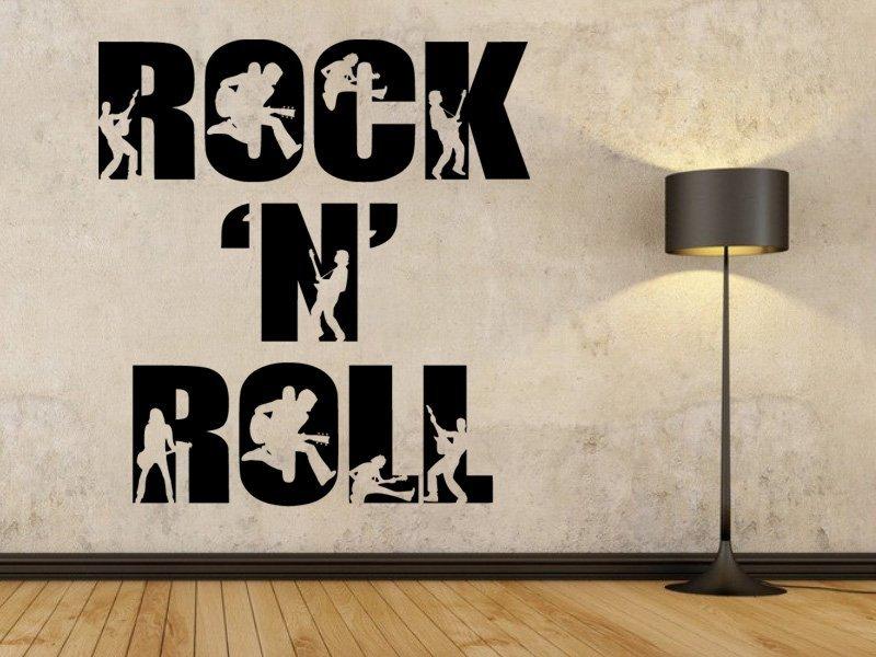 Samolepky na zeď Rock And Roll 003 - Samolepící dekorace a nálepka na stěnu