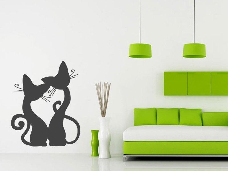 Samolepky na zeď Kočička 008 - Samolepící dekorace a nálepka na stěnu