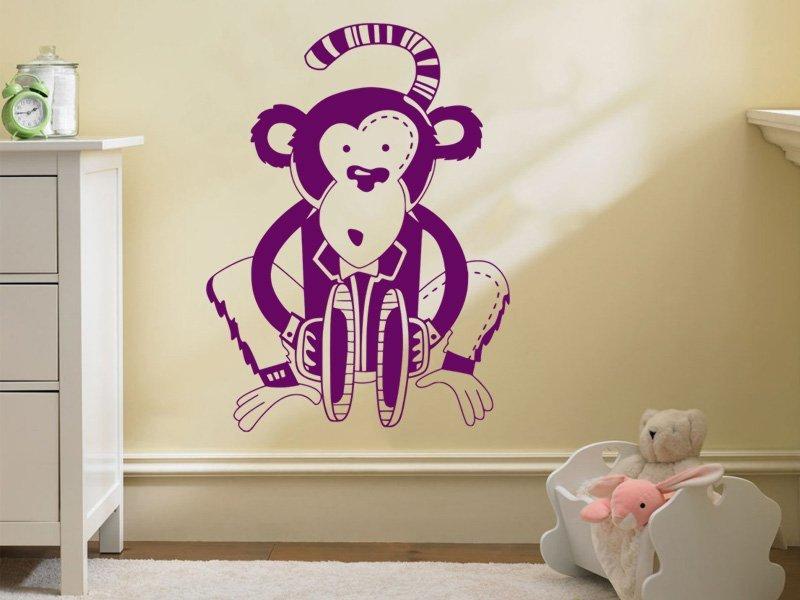 Samolepky na zeď Opička 004 - Samolepící dekorace a nálepka na stěnu