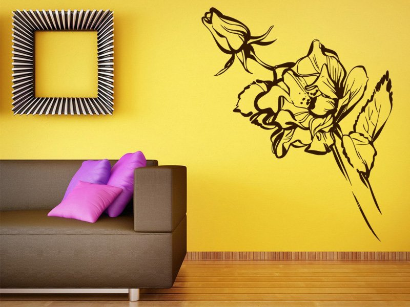 Samolepky na zeď Růže 012 - Samolepící dekorace a nálepka na stěnu