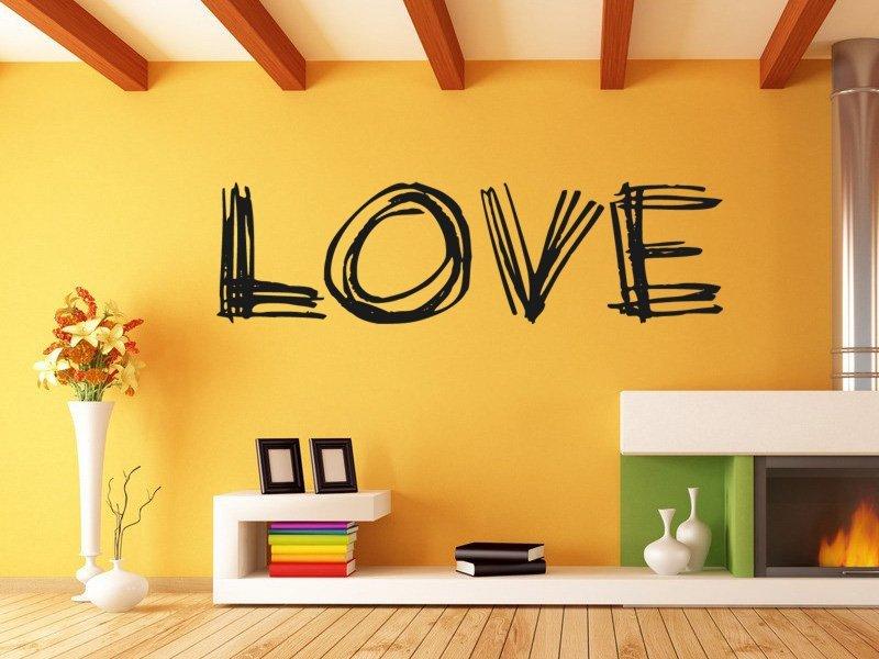 Samolepky na zeď Nápis Love 0236 - Samolepící dekorace a nálepka na stěnu