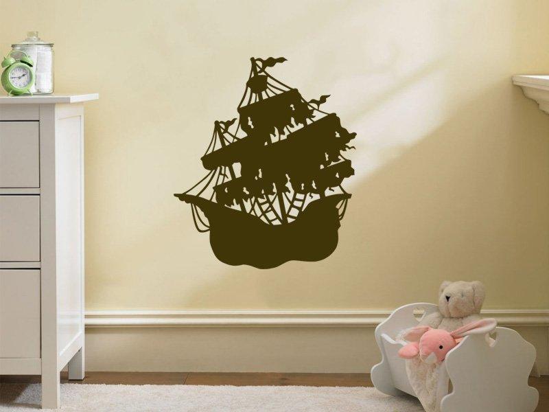 Samolepky na zeď Loď 002 - Samolepící dekorace a nálepka na stěnu