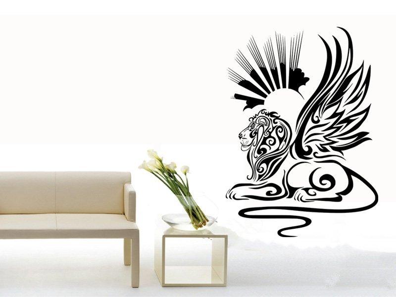 Samolepky na zeď Lví sfinga 001 - Samolepící dekorace a nálepka na stěnu