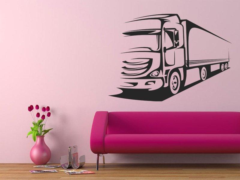 Samolepky na zeď Kamion 001 - Samolepící dekorace a nálepka na stěnu