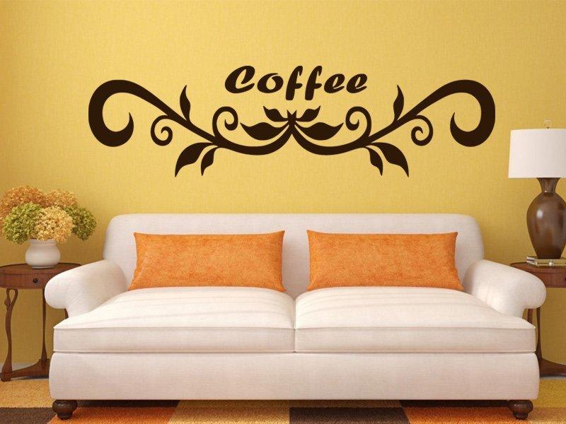 Samolepky na zeď Nápis Coffee 0106 - Samolepící dekorace a nálepka na stěnu