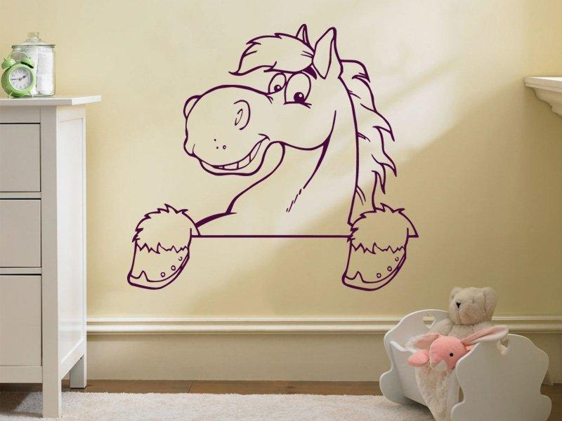 Samolepky na zeď Koník 0381 - Samolepící dekorace a nálepka na stěnu