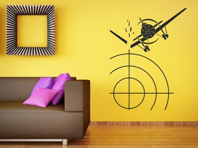 Samolepky na zeď Letadlo 005 - Samolepící dekorace a nálepka na stěnu