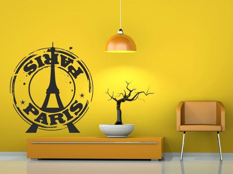Samolepky na zeď Paříž 005 - Samolepící dekorace a nálepka na stěnu