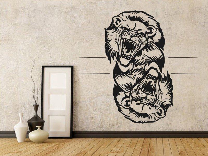Samolepky na zeď Lev 014 - Samolepící dekorace a nálepka na stěnu