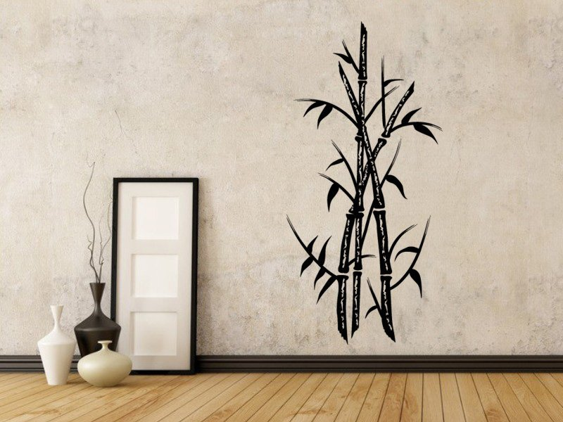 Samolepky na zeď Bambus 004 - Samolepící dekorace a nálepka na stěnu