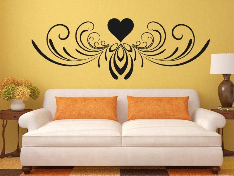 Samolepky na zeď Srdce 0251 - Samolepící dekorace a nálepka na stěnu