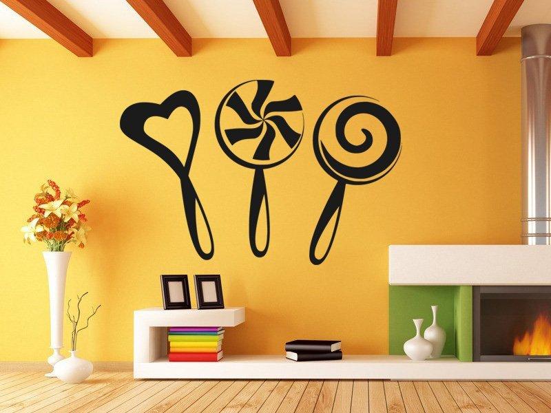 Samolepky na zeď Lízátka 0171 - Samolepící dekorace a nálepka na stěnu