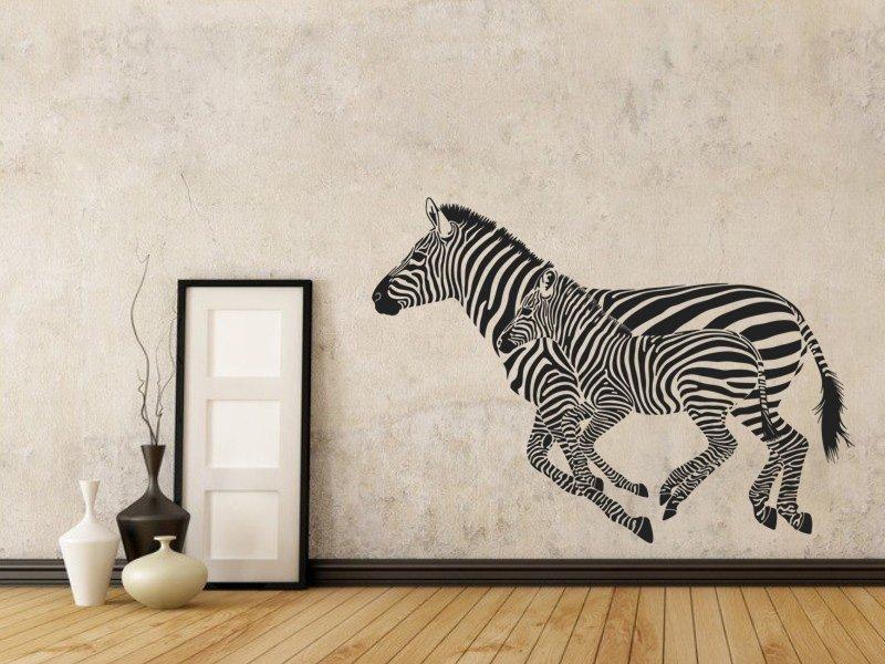 Samolepky na zeď Zebra 001 - Samolepící dekorace a nálepka na stěnu