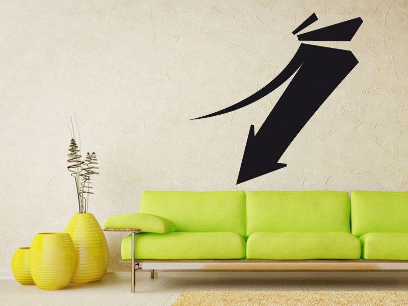 Samolepky na zeď Šipka 014 - Samolepící dekorace a nálepka na stěnu