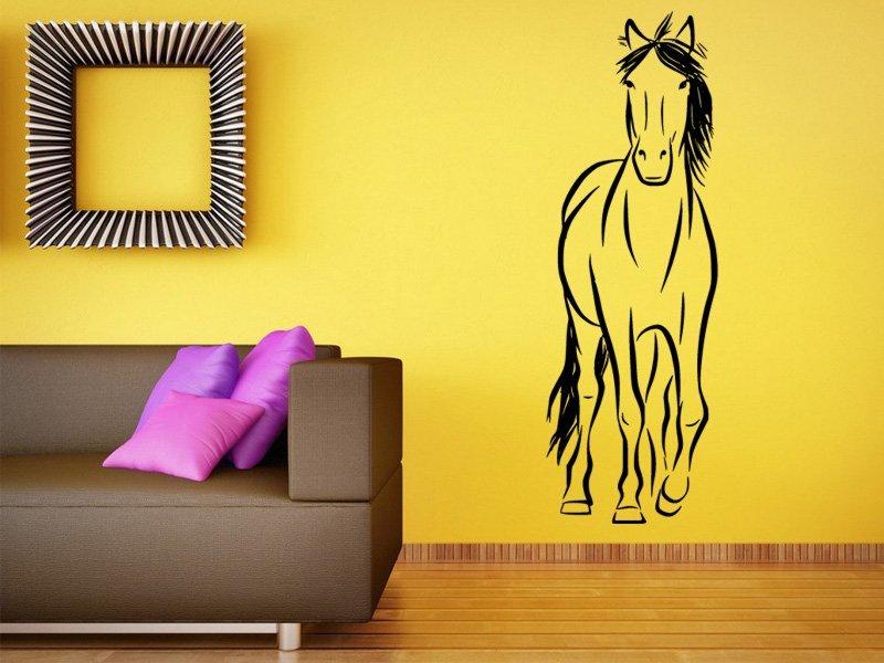 Samolepky na zeď Kůň 0332 - Samolepící dekorace a nálepka na stěnu