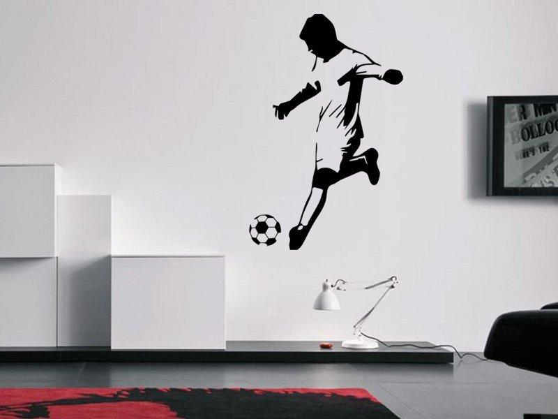 Samolepky na zeď Fotbalista 0587 - Samolepící dekorace a nálepka na stěnu