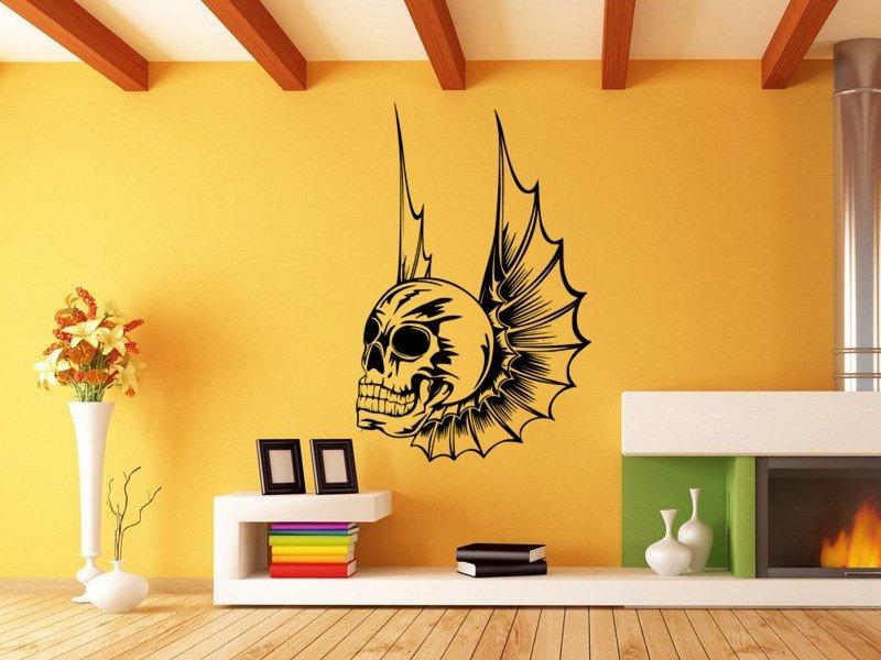 Samolepky na zeď Lebka s křídly 1165 - Samolepící dekorace a nálepka na stěnu