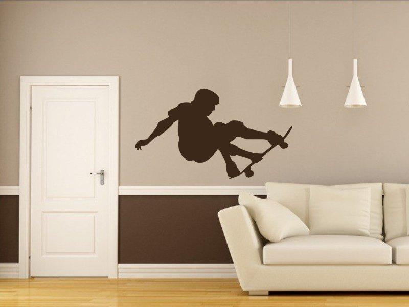 Samolepky na zeď Skateboardista 004 - Samolepící dekorace a nálepka na stěnu