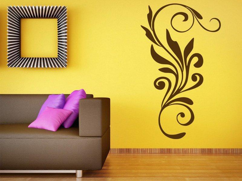 Samolepky na zeď Ornamenty z rostlin 009 - Samolepící dekorace a nálepka na stěnu