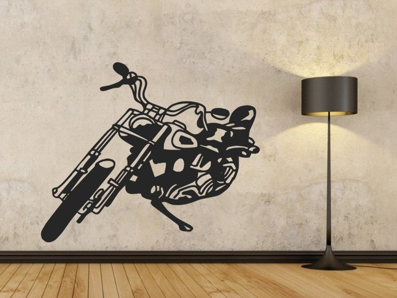 Samolepky na zeď Motorka 001 - Samolepící dekorace a nálepka na stěnu