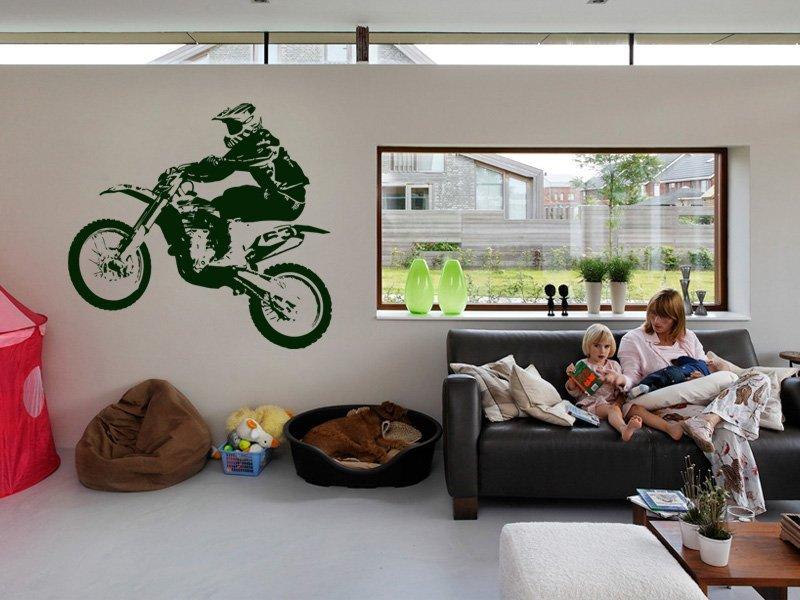 Samolepky na zeď Motorka 007 - Samolepící dekorace a nálepka na stěnu