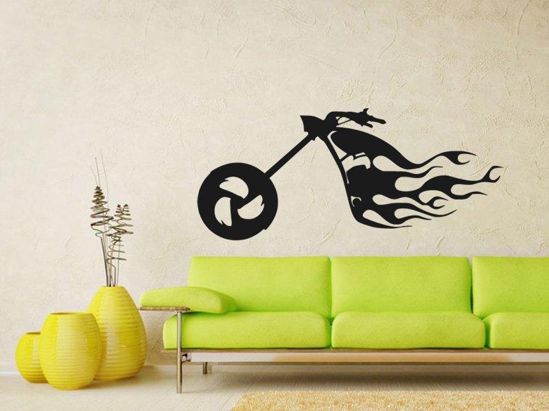 Samolepky na zeď Motorka 013 - Samolepící dekorace a nálepka na stěnu