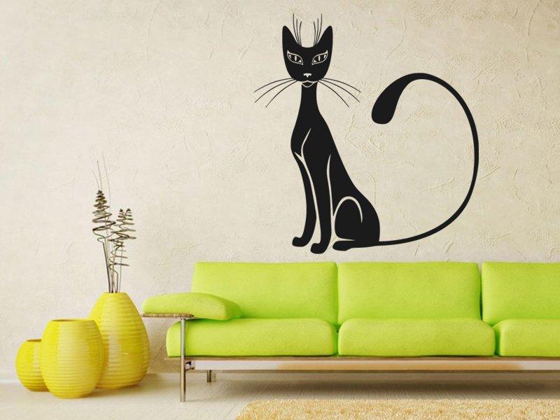 Samolepky na zeď Kočka 0451 - Samolepící dekorace a nálepka na stěnu
