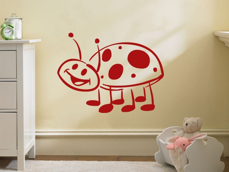 Samolepky na zeď Beruška 003 - Samolepící dekorace a nálepka na stěnu