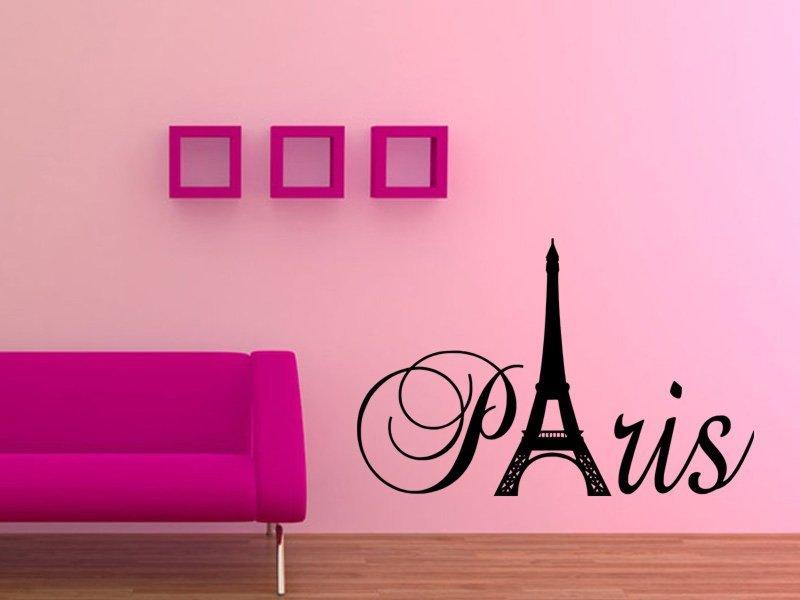 Samolepky na zeď Paříž 003 - Samolepící dekorace a nálepka na stěnu