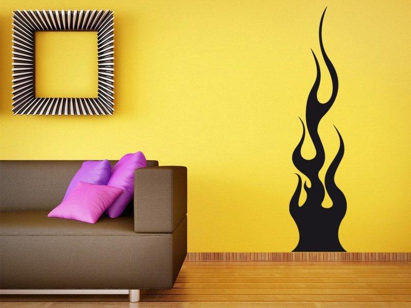 Samolepky na zeď Plameny 012 - Samolepící dekorace a nálepka na stěnu
