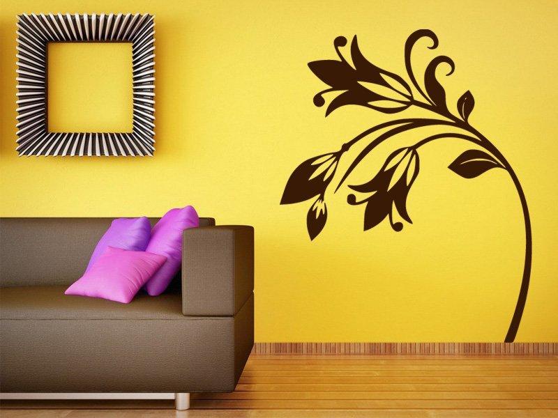 Samolepky na zeď Květiny 044 - Samolepící dekorace a nálepka na stěnu