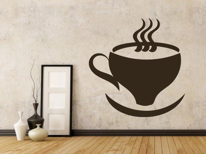 Samolepky na zeď Hrnek kávy 0048 - Samolepící dekorace a nálepka na stěnu
