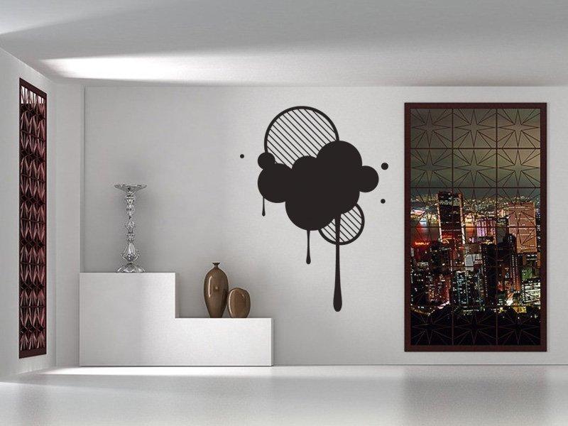 Samolepky na zeď Kruhy 002 - Samolepící dekorace a nálepka na stěnu