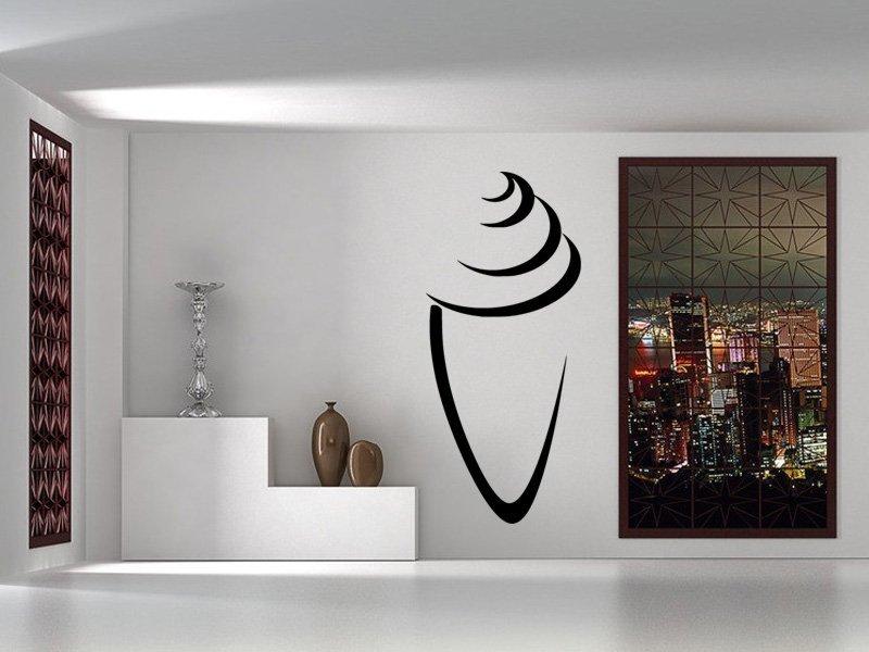 Samolepky na zeď Zmrzlina 0121 - Samolepící dekorace a nálepka na stěnu