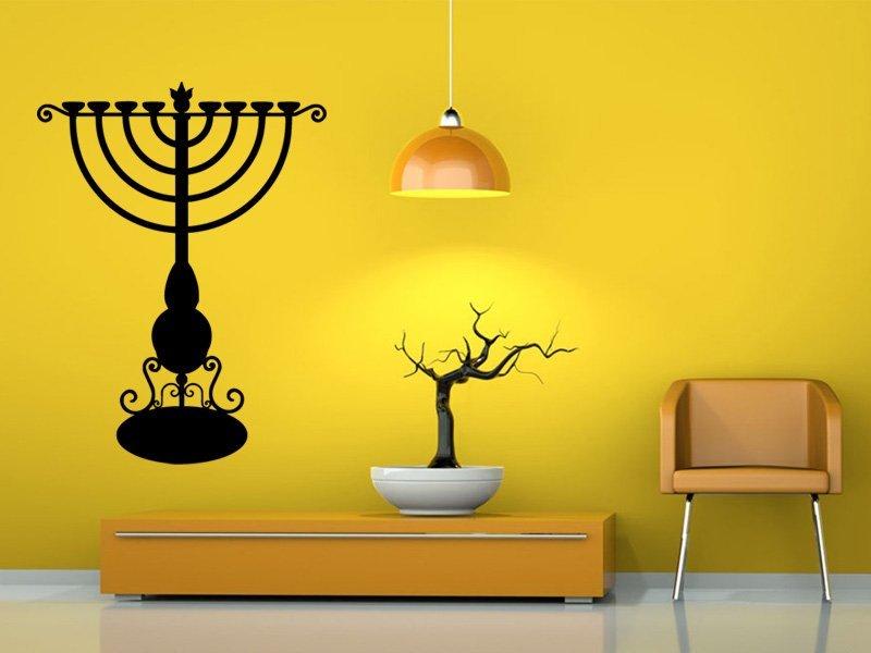 Samolepky na zeď Svícen 0028 - Samolepící dekorace a nálepka na stěnu