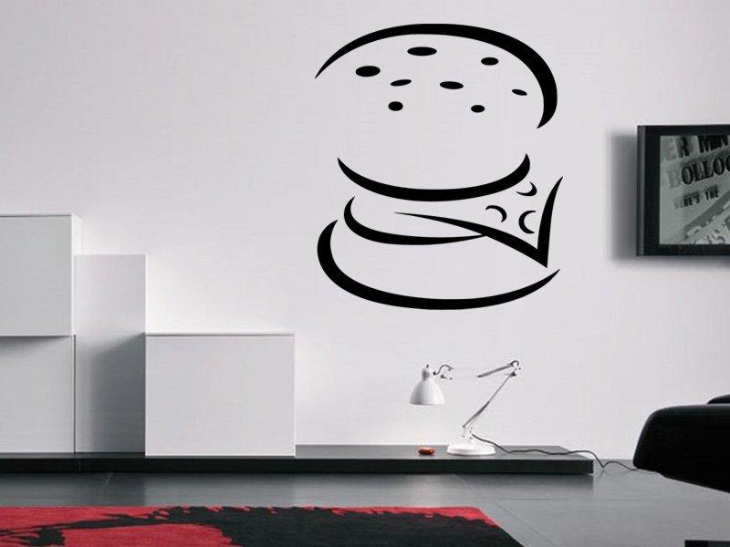 Samolepky na zeď Burger 0117 - Samolepící dekorace a nálepka na stěnu