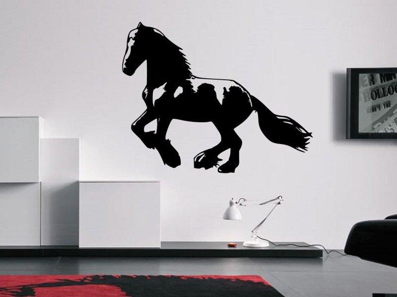Samolepky na zeď Kůň 0334 - Samolepící dekorace a nálepka na stěnu