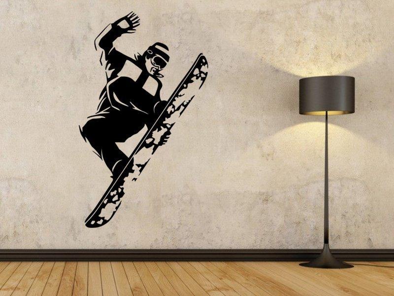 Samolepky na zeď Snowboardista 005 - Samolepící dekorace a nálepka na stěnu