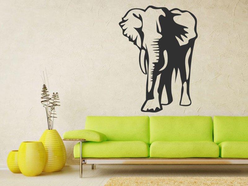 Samolepky na zeď Slon 001 - Samolepící dekorace a nálepka na stěnu