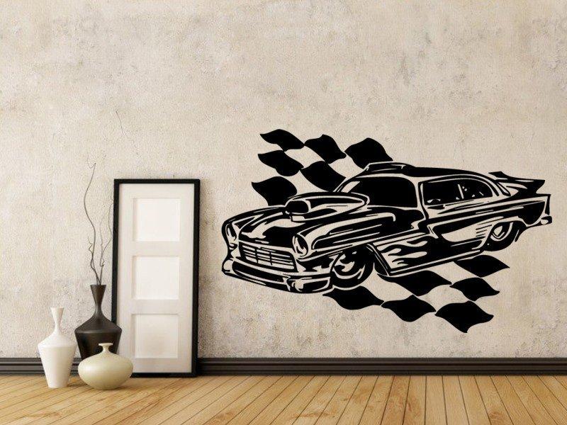 Samolepky na zeď Auto 057 - Samolepící dekorace a nálepka na stěnu