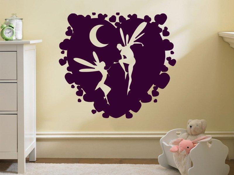 Samolepky na zeď Víly 0204 - Samolepící dekorace a nálepka na stěnu