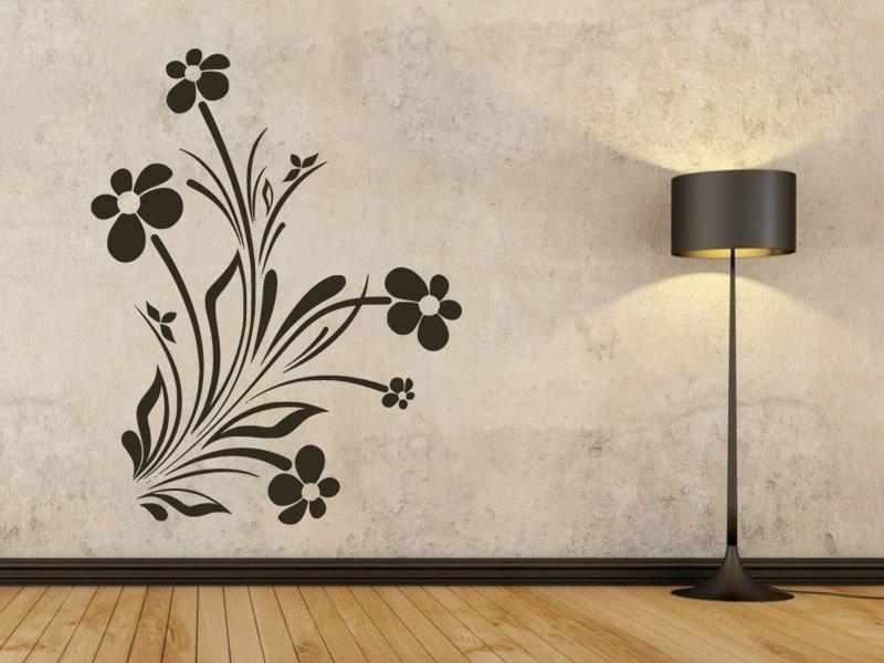 Samolepky na zeď Květiny 037 - Samolepící dekorace a nálepka na stěnu