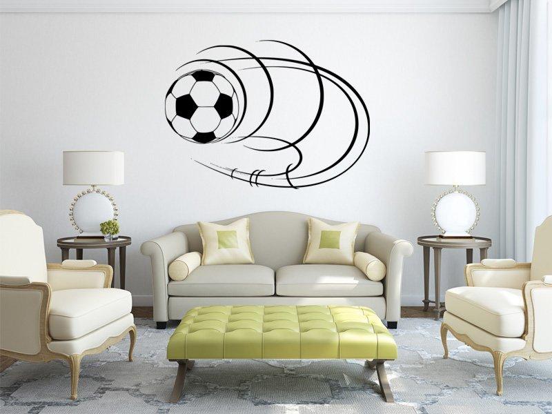 Samolepky na zeď Fotbalový míč 006 - Samolepící dekorace a nálepka na stěnu