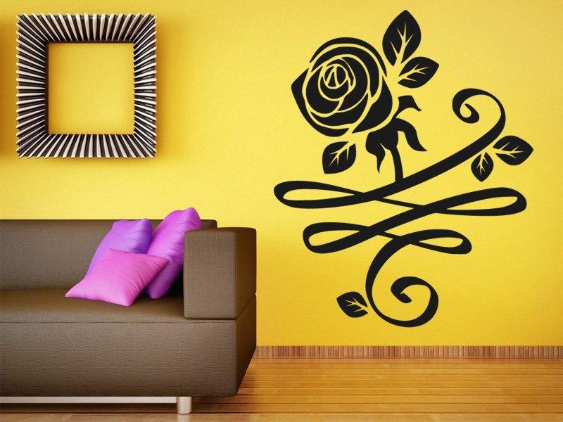 Samolepky na zeď Růže 0184 - Samolepící dekorace a nálepka na stěnu