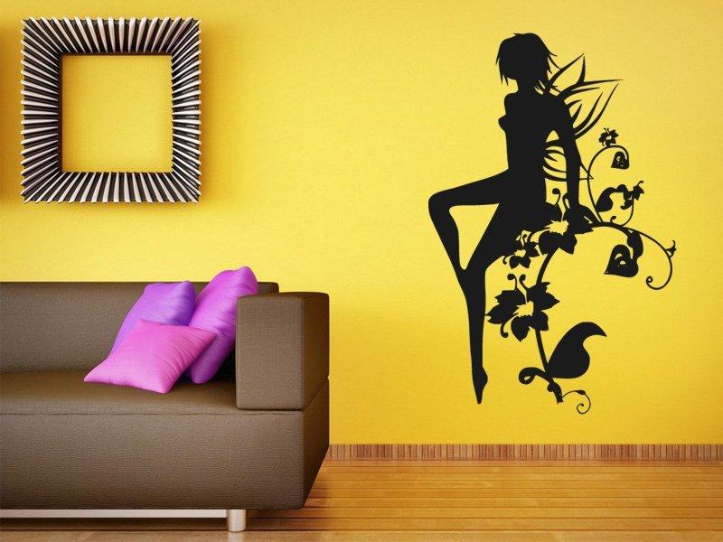 Samolepky na zeď Víla 0213 - Samolepící dekorace a nálepka na stěnu
