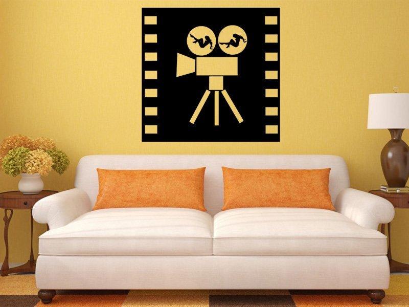 Samolepky na zeď Filmová kamera 0206 - Samolepící dekorace a nálepka na stěnu