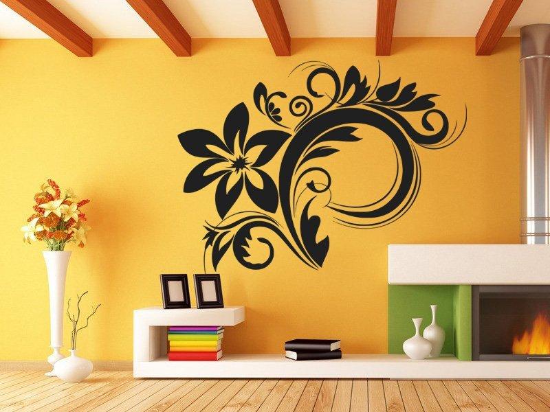 Samolepky na zeď Ornamenty z rostlin 030 - Samolepící dekorace a nálepka na stěnu