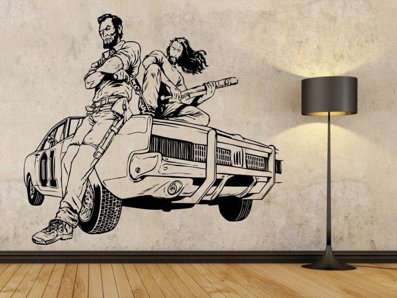 Samolepky na zeď Drsní chlapíci 001 - Samolepící dekorace a nálepka na stěnu